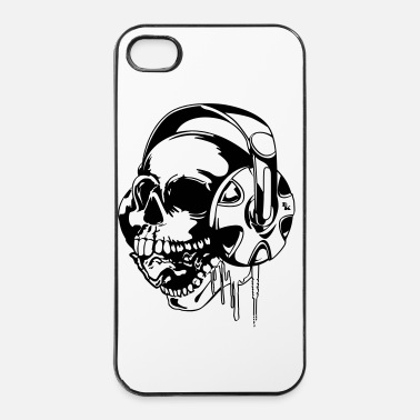 Metal Musique skull music vect 2 by dk - Coque rigide iPhone 4/4s
