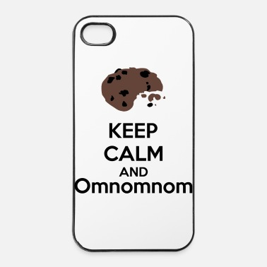 Keep Calm Keep Calm And Omnomnom - iPhone 4/4s kovakotelo