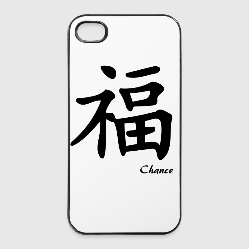 signe chinois chance - Coque rigide iPhone 4/4s
