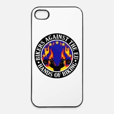 Eu Anti EU Hands Off Biking EU 002 - iPhone 4/4s Hard Case