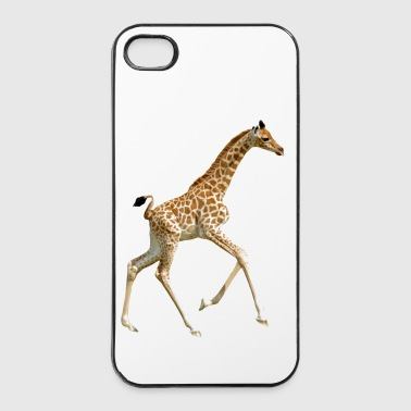Isolated baby giraffe running - Coque rigide iPhone 4/4s