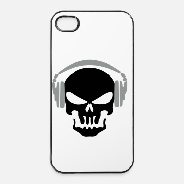 Audio tete de mort casque - Coque rigide iPhone 4/4s