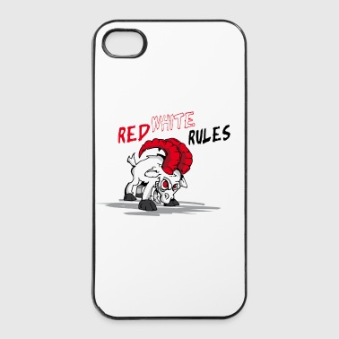 Red White Rules - iPhone 4/4s Hard Case
