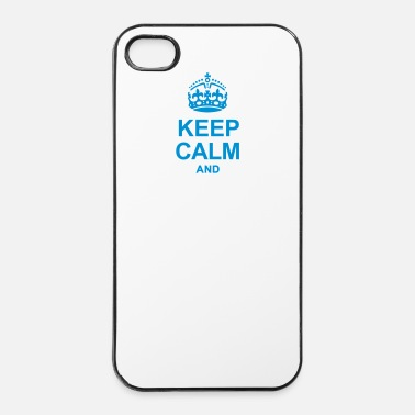 Texto Keep Calm And Escribe tu texto! - Carcasa iPhone 4/4s