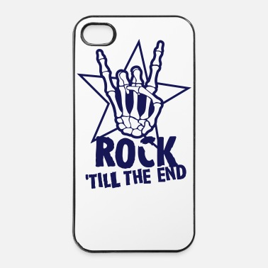 Rock N Roll rock 'till the end star - Coque rigide iPhone 4/4s