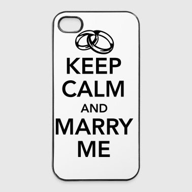 Keep calm and marry me - iPhone 4/4s hard case