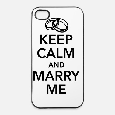 Keep Calm Keep calm and marry me - Custodia rigida per iPhone 4/4s