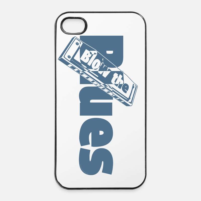 Blues iPhone Cases - Blues Harmonica - iPhone 4 Case white/black
