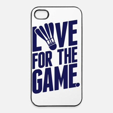 Badminton badminton - love for the game - Coque rigide iPhone 4/4s