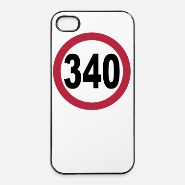 Course Automobile limitation de vitesse 340 _v1 - Coque rigide iPhone 4/4s
