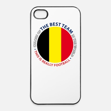Champion Du Monde Belgique Bouclier de Football - Coque rigide iPhone 4/4s