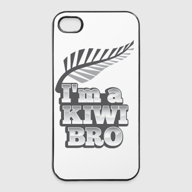Silver I'm a KIWI BRO with silver fern New Zealand - iPhone 4/4s Hard Case