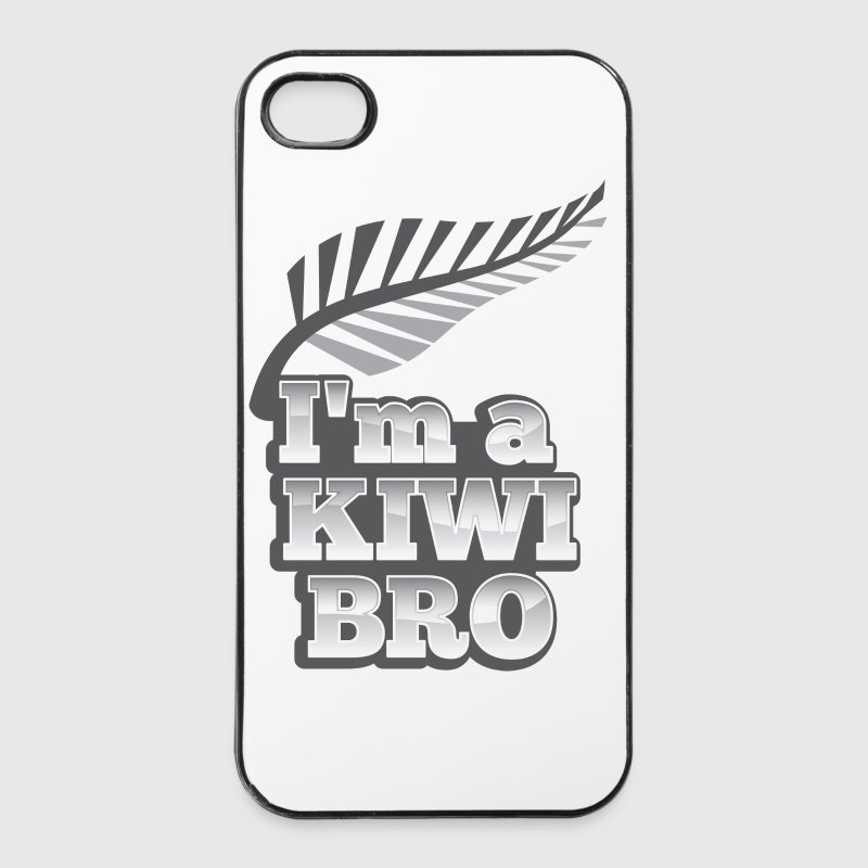 I'm a KIWI BRO with silver fern New Zealand - iPhone 4/4s Hard Case