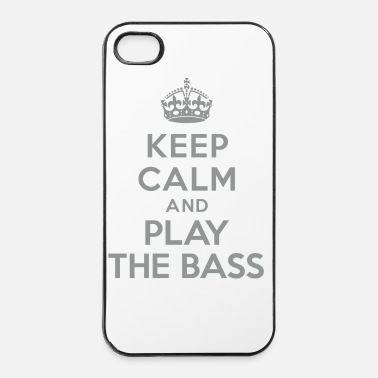 Jazz Keep calm play the bass - Coque rigide iPhone 4/4s