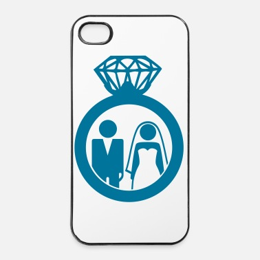 Marry Just Married wedding couple ring - Hochzeitspaar - iPhone 4 & 4s Case