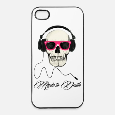 Rap DJ SKULL Music to Death - iPhone 4/4s hard case
