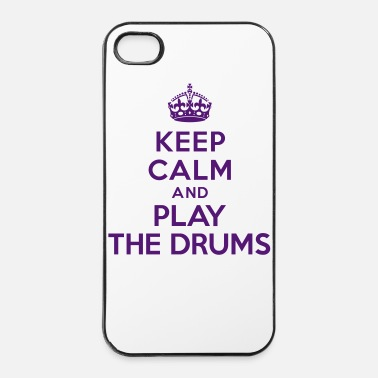 Jazz Keep calm play the drums - Coque rigide iPhone 4/4s