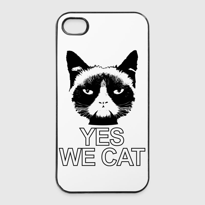 böse guckende Katze Yes we cat Kater cat - iPhone 4/4s Hard Case