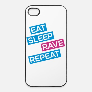 Jumpstyle EAT SLEEP RAVE REPEAT - iPhone 4/4s hoesje