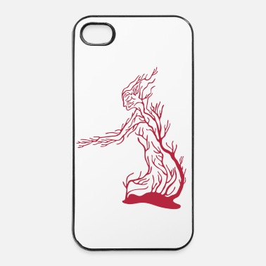 Jardin homme_corail_dc8 - Coque rigide iPhone 4/4s