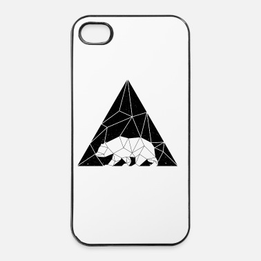 Tampon geometric-animal_OURS-BEA - Coque rigide iPhone 4/4s