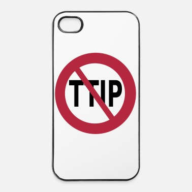 Anti STOP TTIP - Coque rigide iPhone 4/4s