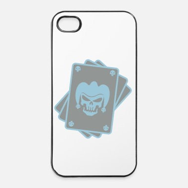 Poker cartes tete de mort joker4 - Coque rigide iPhone 4/4s