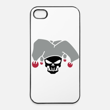 Poker tete de mort joker 5 - Coque rigide iPhone 4/4s
