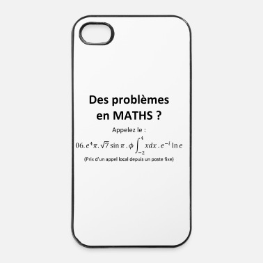 Maths problemes_en_maths_humour - Coque rigide iPhone 4/4s