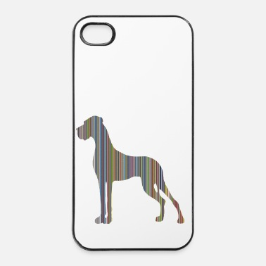 Dogge in Farbe DIGITALDRUCK - iPhone 4/4s Hard Case
