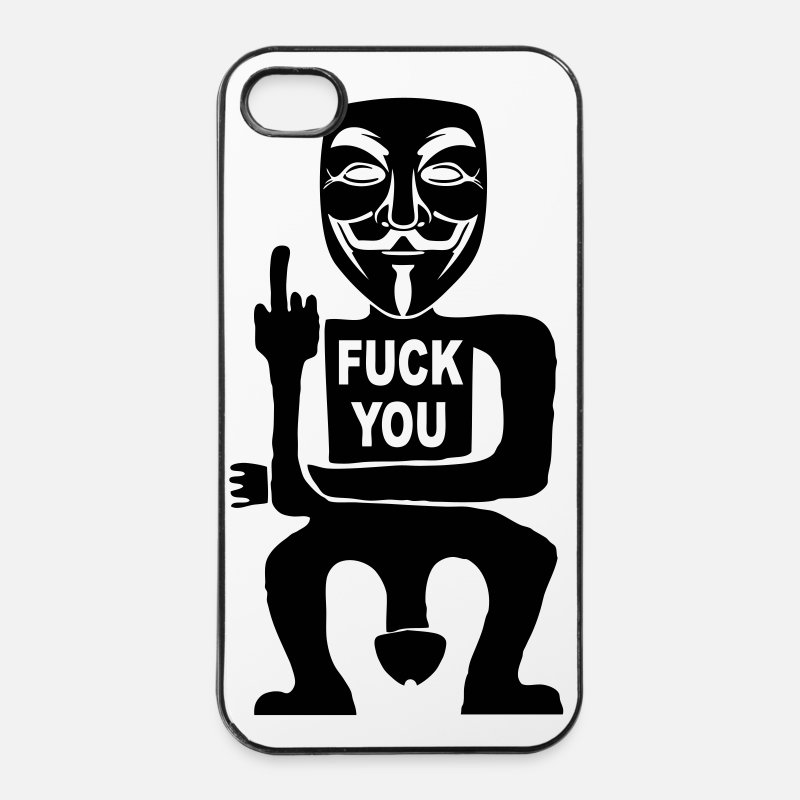 You iPhone Cases - fuck you - iPhone 4 Case white/black