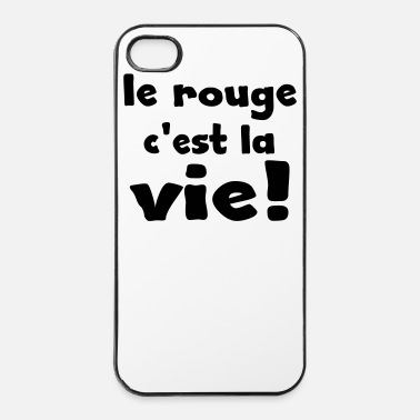 Weekend le rouge c'est la vie - Coque rigide iPhone 4/4s