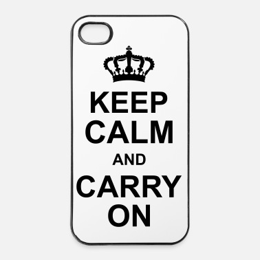 Écriture keep_calm_and_carry_on_g1 - Coque rigide iPhone 4/4s