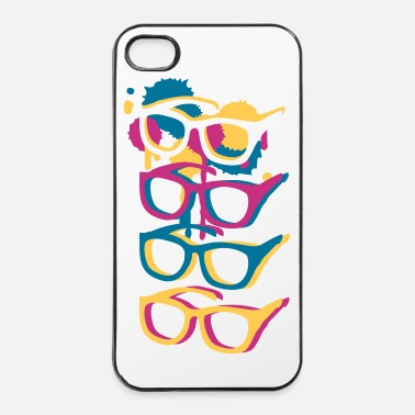 Sunglasses Four colorful sunglasses in graffiti style - iPhone 4 & 4s Case