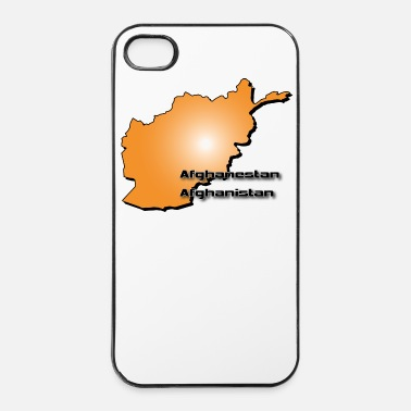 Name Afghanistan land kaart in 3D-stijl - iPhone 4/4s hard case