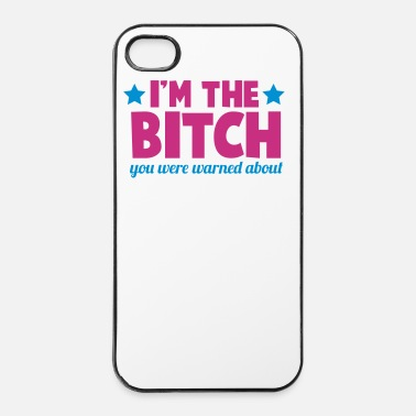 Rude I'm the  you were warned about funny rude - iPhone 4/4s Hard Case