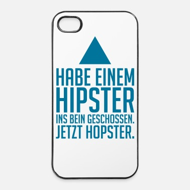 Anti hipster - hopster - Coque rigide iPhone 4/4s