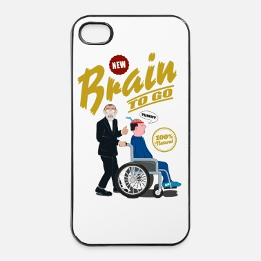 Brain to go - 100% Bio - iPhone 4 & 4s Hülle