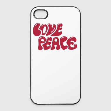 Love Peace seventies 70s retro style flower power - Carcasa iPhone 4/4s
