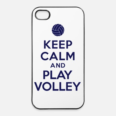 Volley Keep calm and play Volley - Coque rigide iPhone 4/4s