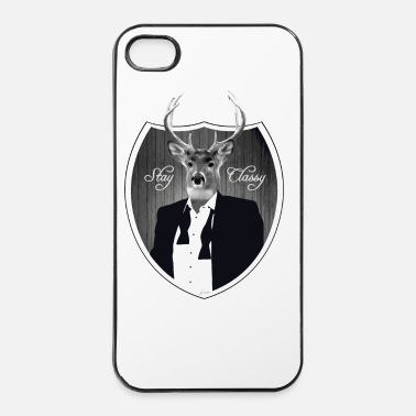 Cerf Cerf en smoking - Coque rigide iPhone 4/4s