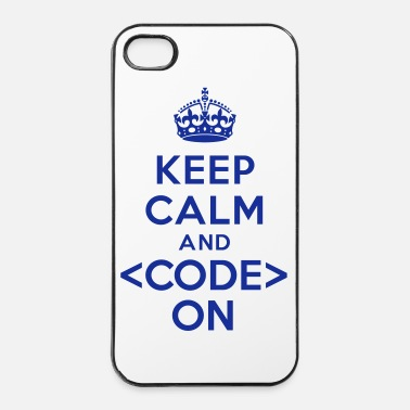 Code Keep calm code on - Coque rigide iPhone 4/4s