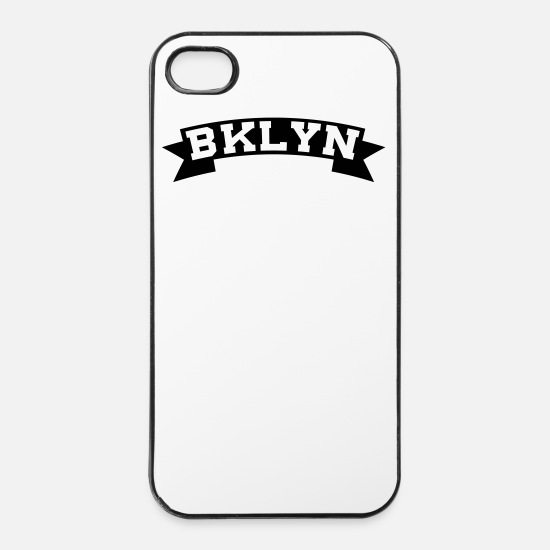 Brooklyn iPhone Hüllen - BKLYN / BROOKLYN - iPhone 4 & 4s Hülle Weiß/Schwarz