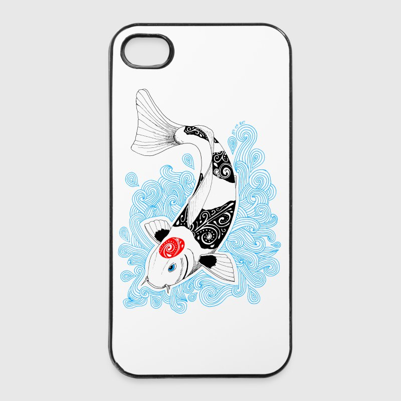 Carpe Koi design - Coque rigide iPhone 4/4s