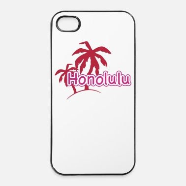 Sabbia Palmen Strand Honolulu Hawaii Urlaub 1c - Custodia rigida per iPhone 4/4s
