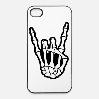 Rock N Roll skull rock hand - Coque rigide iPhone 4/4s