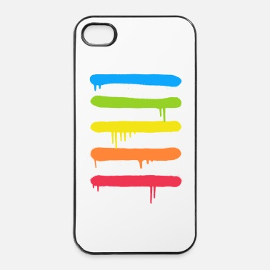 Hop  Trendy Cool Graffiti Tag Lines - Custodia rigida per iPhone 4/4s