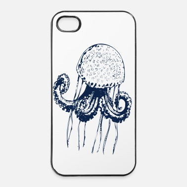 Mer méduse poulpe mer  - Coque rigide iPhone 4/4s