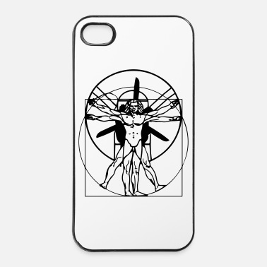 Leonado da Vinci Vitruvian Man - iPhone 4/4s Hard Case