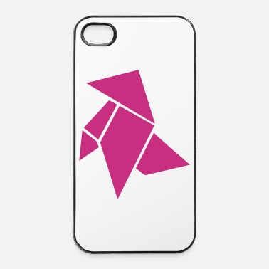 Papier Origami Chien - Coque rigide iPhone 4/4s